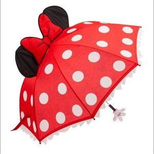 ☂️ DisneyParks Minnie Figural Polka Dot Umbrella